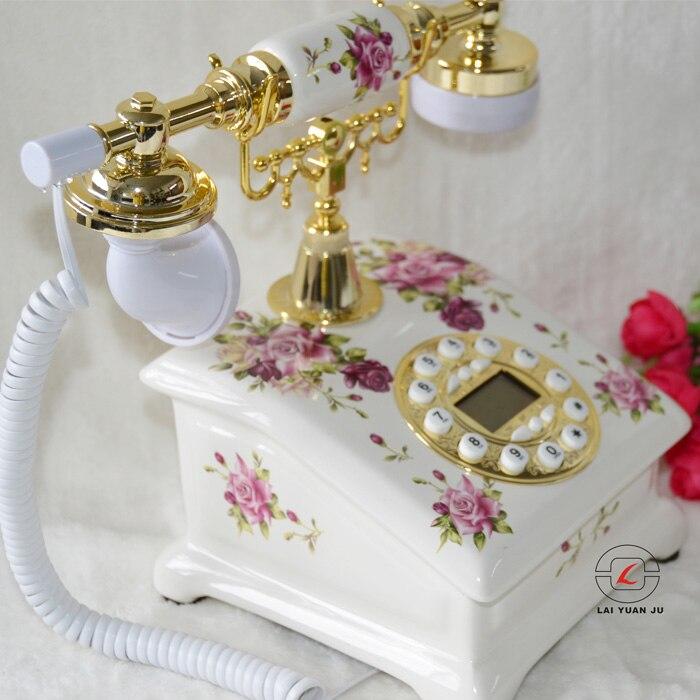 Подлинные керамические старинной Европейской сад Мода ретро ювелирные украшения бытовой фиксированной стационарный телефон украшения до...