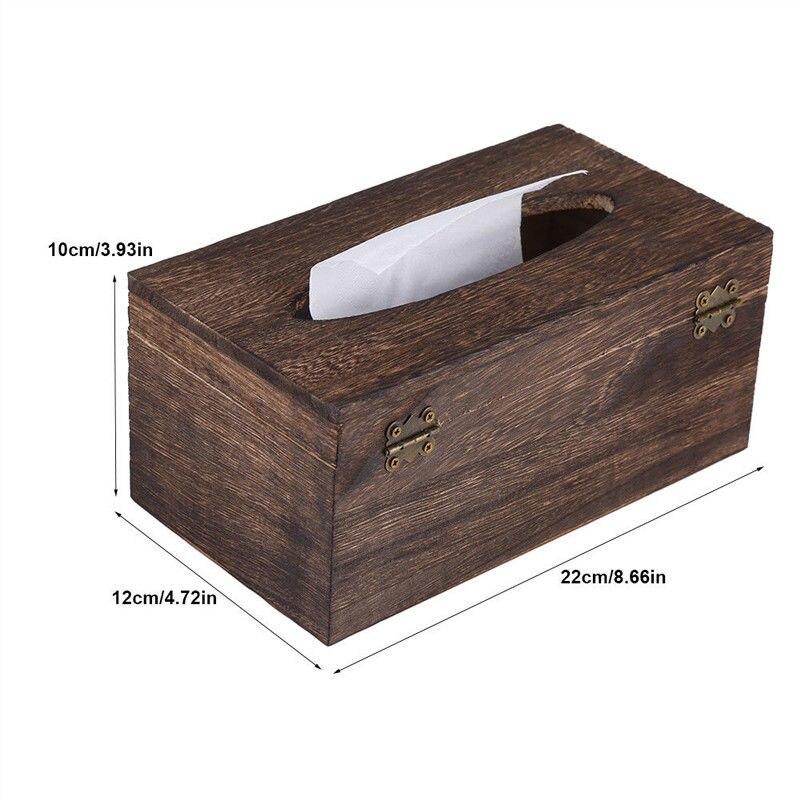Бумажный стеллаж деревянная коробка для хранения салфеток Автомобильная домашняя коробка для салфеток прямоугольной формы контейнер для полотенец салфеток диспенсер для салфеток Органайзер держатель - Цвет: 22x12x10cm