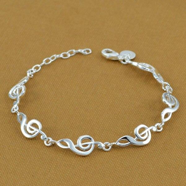 рождественские подарки! мода ноты браслеты для женщин ювелирных изделий из серебра бесплатная доставка высокое качество