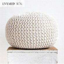 [InYard] Lavável pano/low stool piers/decorativo banquinhos puro algodão fio grosso tecido de grão fino