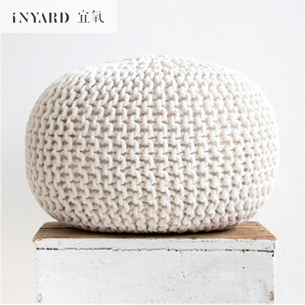 InYard selected decorative stool sitting pier futon sofa footrest cotton knitting quality and coarse particles ...