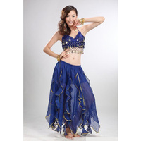 Many Colors Belly Dancing Costume Set Top&Skirt,India Belly Dance Skirt Wear Cymbals Bra Retail Wholesale Free Shipping HSK828