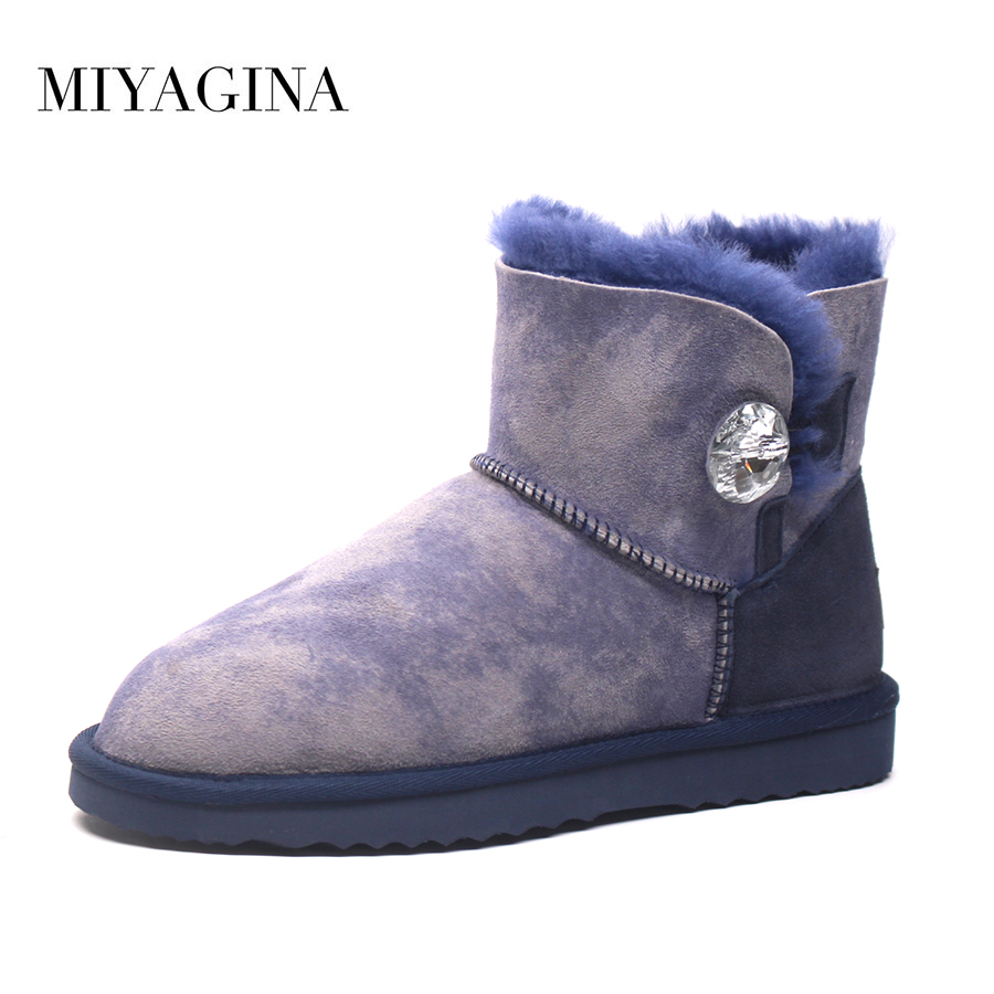 Hot Sale High Quality Women 100% Genuine sheepskin Snow Boots Natural Fur Women boots Warm Winter Ankle Shoes winter warm women boots high quality snow boots 100% genuine sheepskin and natural fur fashion boots free shipping