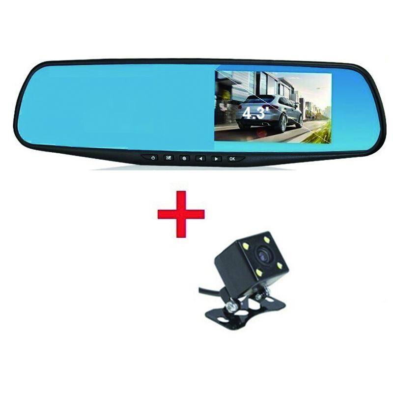 Prix pour Voiture Caméra Enregistreur Auto Caméra De Voiture Dvr Double Caméra De Voiture-détecteur HD1080P Caméscope Dash Cam Voiture Moniteur