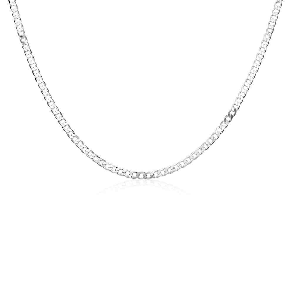 Hurtownie 4mm srebrny Link łańcucha mężczyzn naszyjnik moda biżuteria 16-30 cal długi łańcuch naszyjnik gorąca sprzedaży kołnierz męski klejnot