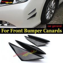 цена на For KIA K2 Universal 4Pcs Front Bumper Lip Splitter Air Knife Body Kit For KIA K2 Carbon Front Bumper Lip Splitter Car-Styling