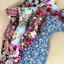 RBOCOTT New Design 8 cm Cotton Ties For Men Paisley Tie Floral Ties Mens Classic Necktie Business Wedding Party Neckwear