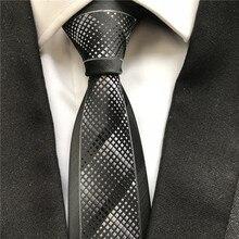 Новые дизайнерские Молодежные мужские узкие тонкие галстуки модные вечерние Свадебный галстук черный с белыми пледы