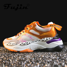 Fujin Woman Canvas Sneakers Dropshipping Women Fashion 2019 Chunky Platform High Zapatos Leopardo Mujer