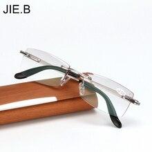Высококачественные очки для чтения с алмазной огранкой, мужские очки без оправы, очки для дальнозоркости, очки для дальнозоркости