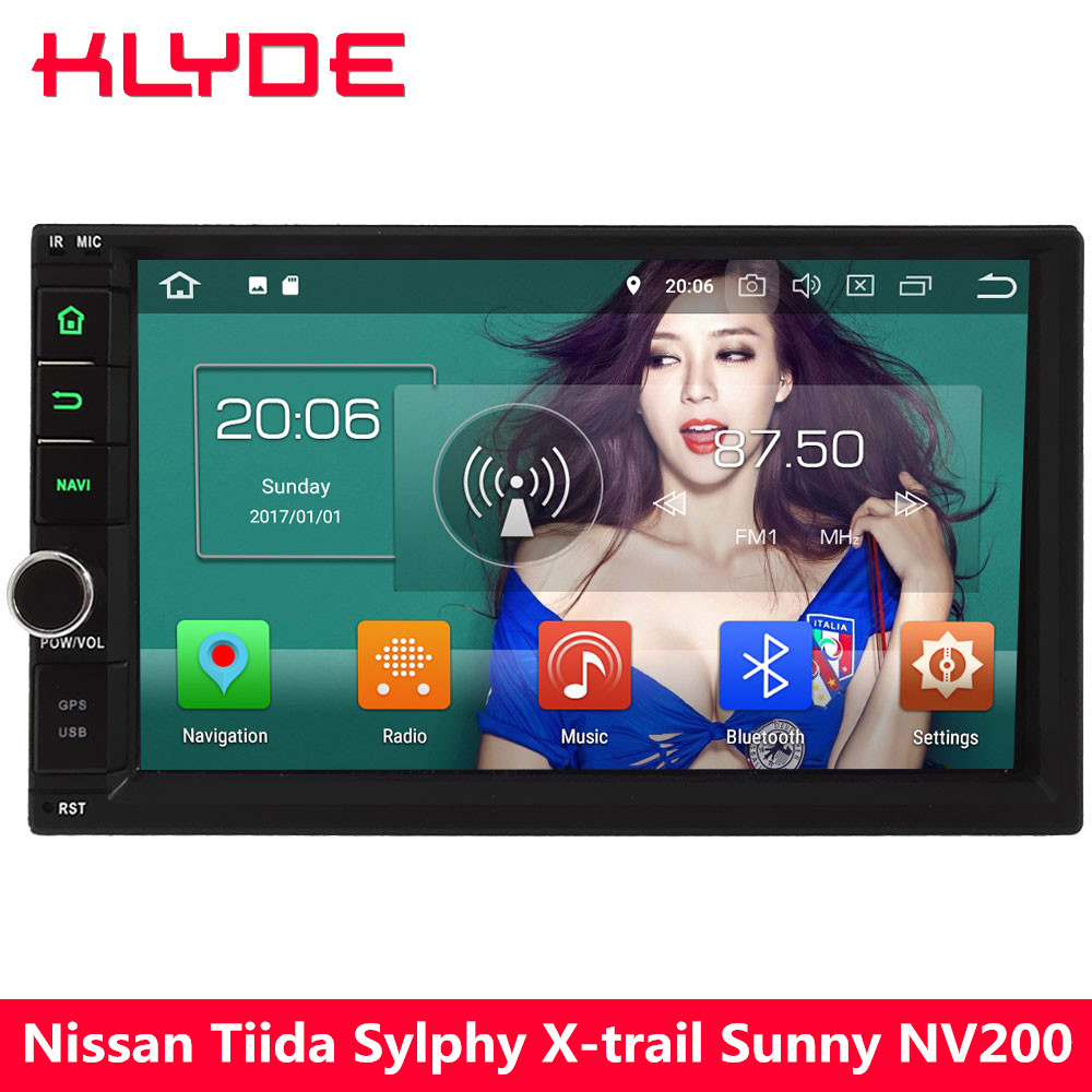 KLYDE 4G Octa Core Android 8 4 GB RAM + 32 GB 2Din universel voiture lecteur DVD Radio pour Nissan x-trail Body Sylphy Tiida Sunny patrouille