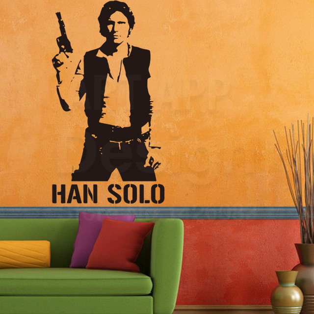Art new design home decoration Star War Han Solo silhouette Vinyl Wall sticker removable cheap house  sc 1 st  AliExpress.com : han solo wall decal - www.pureclipart.com