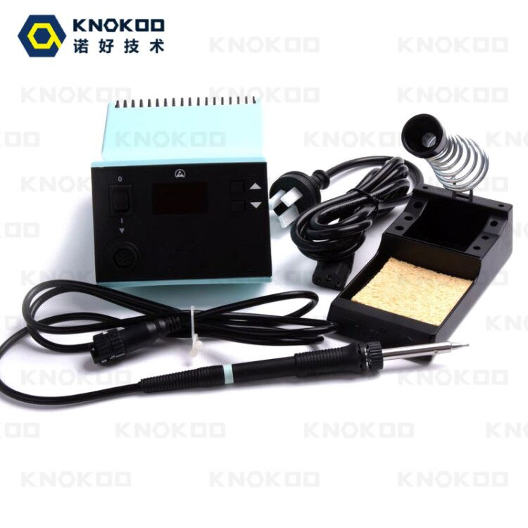 80W 110V/220V KNOKOO WSD81 Lead-free Soldering Station with WSP80 Soldering Pen and LT Series Soldering Iron Tips knokoo upper and lower case t0058748937 38 for wsd81 soldering station
