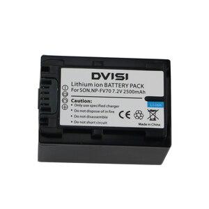 DVISI TOP Quality 2500mAh NP-FV70 NP FV70 NPFV70 Camera Battery for Sony NP-FV50 FV30 HDR-CX230 HDR-CX150E HDR-CX170 CX300 Z1