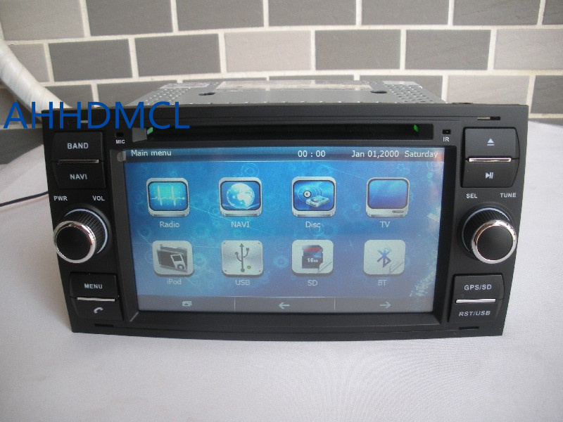 2 din car cd radio audio dvd player gps bluetooth for ford. Black Bedroom Furniture Sets. Home Design Ideas