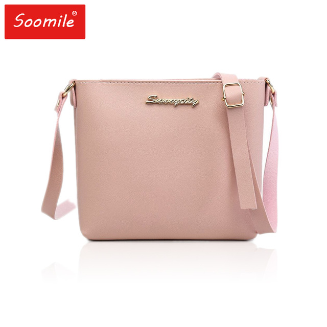 eaf7621452b US $6.01 35% OFF|Mini crossbody bags pink black red gril Mini PU Leather  crossbody bags Youth women shoulder bag for phone purse Messenger Bags-in  ...