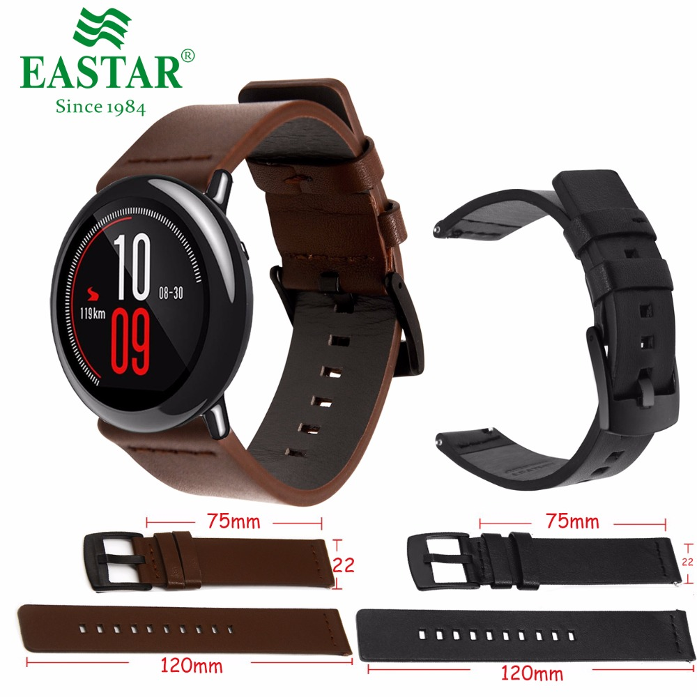Genuine Classic Leather Strap For Xiaomi Huami Amazfit Bit Youth Smart watch accessories Classic Watchband 22mm Watch BraceletGenuine Classic Leather Strap For Xiaomi Huami Amazfit Bit Youth Smart watch accessories Classic Watchband 22mm Watch Bracelet