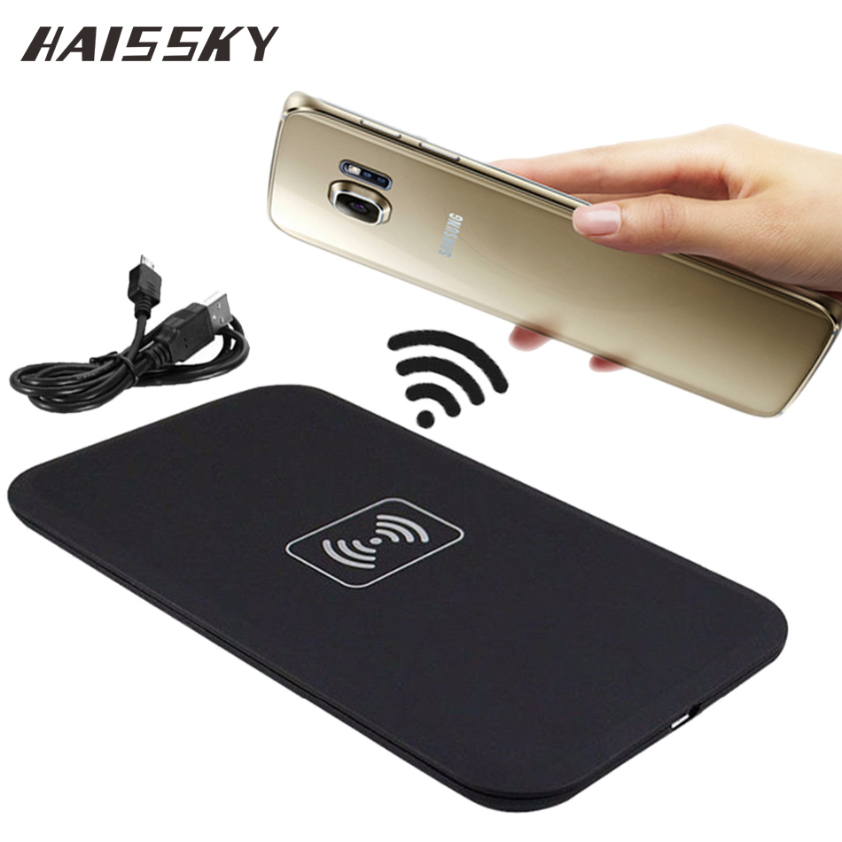 buy haissky mini qi wireless charger for samsung galaxy s8 s8 plus s7 s7 edge. Black Bedroom Furniture Sets. Home Design Ideas