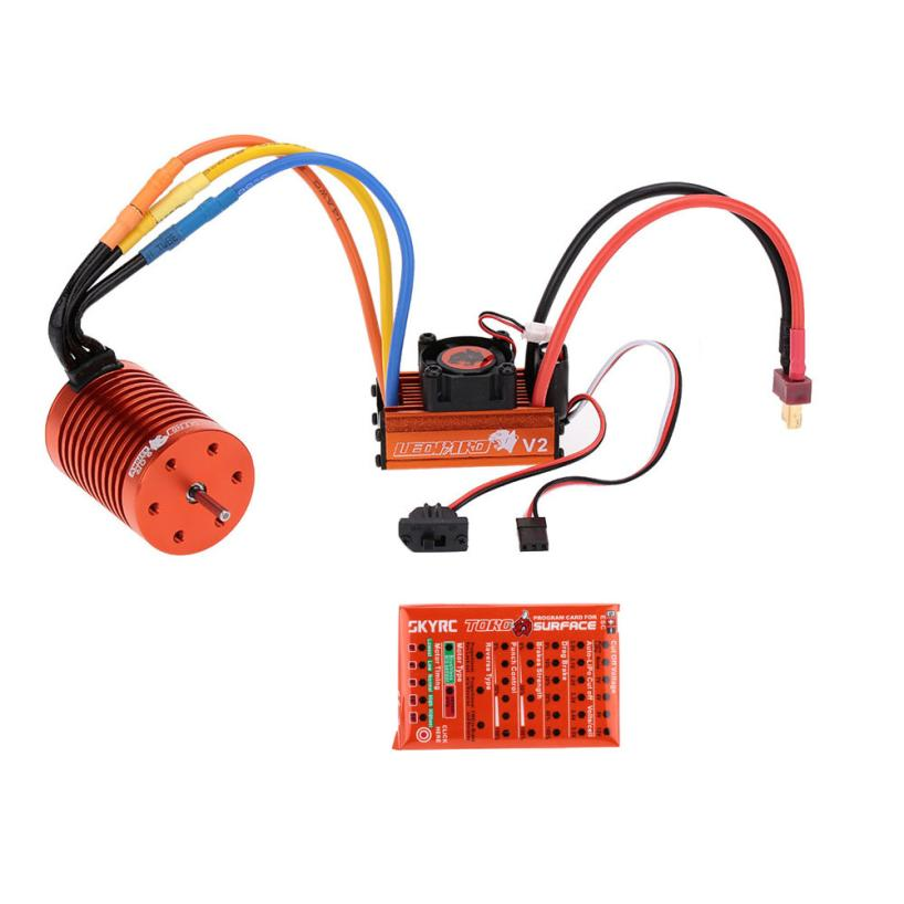 SKYRC 9T 4370KV Brushless Moto 60A Brushless ESC Program Card For 1/10 RC Car Z918 hobbywing ezrun max8 v3 t trx plug waterproof 150a esc brushless esc 4274 2200kv motor led program card for 1 8 rc car crawler