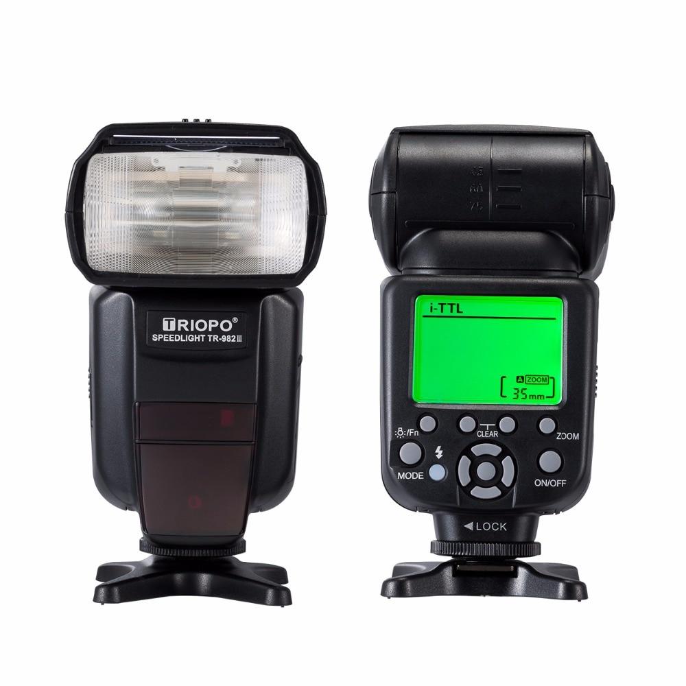 Moveski Flash Triopo TR-982 III i-TTL Master Slave Speedlite Trigger for Nikon Canon triopo tr 982ii ttl master slave flash speedlite for canon eos 5d mark ii 6d 7d 60d 70d 600d or for nikon d90 d7000 flash light