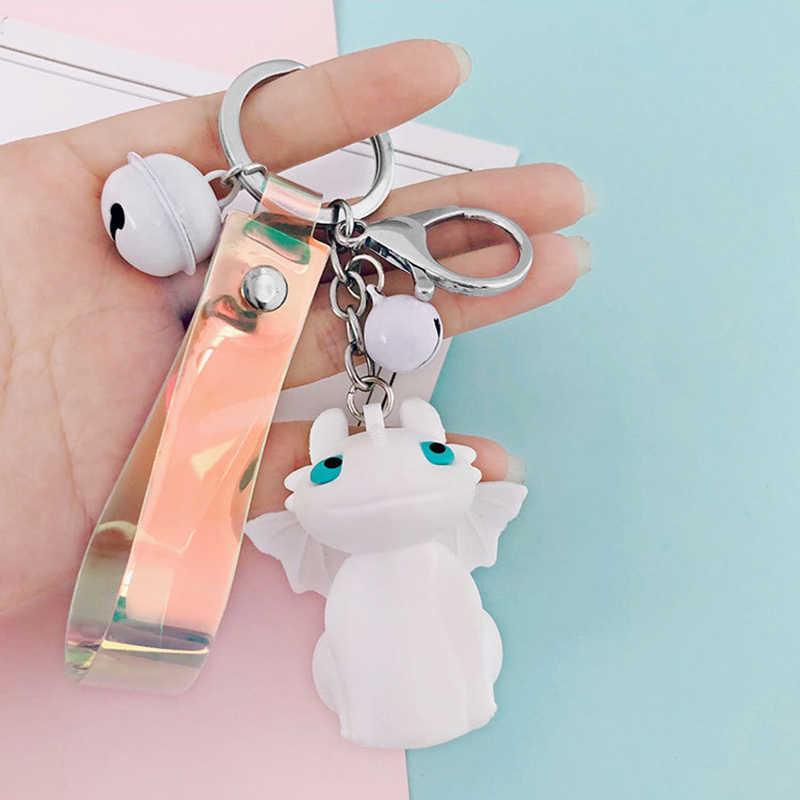 Брелок с мультяшным животным беззубиком для мужчин и женщин, сумка Orna для мужчин t, креативный брелок с колокольчиком, брелок для ключей, милый автомобильный держатель для ключей, украшение, подарок