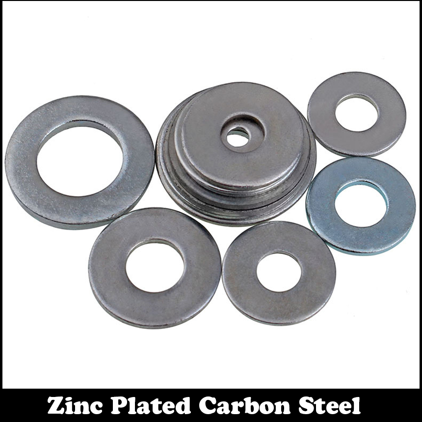 M3 M4 M3*16*1 M3x16x1 M3*18*1 M3x18x1 M4*7*0.5 M4x7x0.5 Zinc Plated Carbon Steel DIN125 Gasket Collar Plain Flat Washer