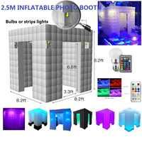 Hochzeit, partei hintergrund 8ft/2,5 m aufblasbare tragbare photo booth mit led-leuchten farbwechsel und Inner air gebläse Für party