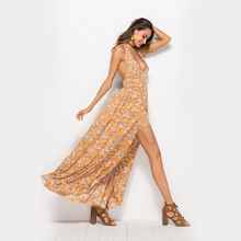 Amazon Europa los Estados Unidos nuevas mujeres de explosiones playa  vacaciones viento volver gasa larga del vestido de falda pr. fb42aec6086f