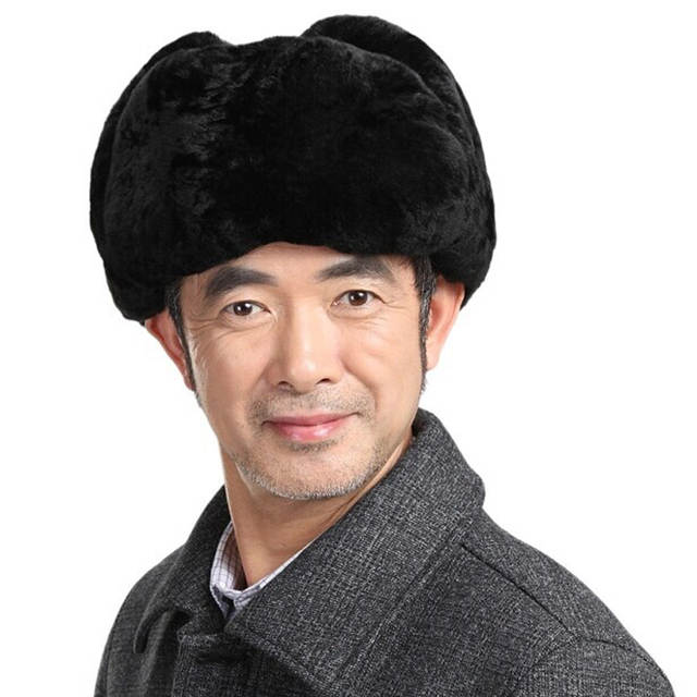 50e1c5594 US $29.51 26% OFF|Svadilfari Wholesale New Winter 2018 Men's Fashion Russia  Style Leifeng Snow Top Cotton Real Leather Hat Cap For Man Women-in Bomber  ...