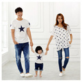 Stars Family Style Tops Casual T shirt Mother Daughter Father Son T shirt Mom and Baby Clothes Family Clothing Plus Size TM28