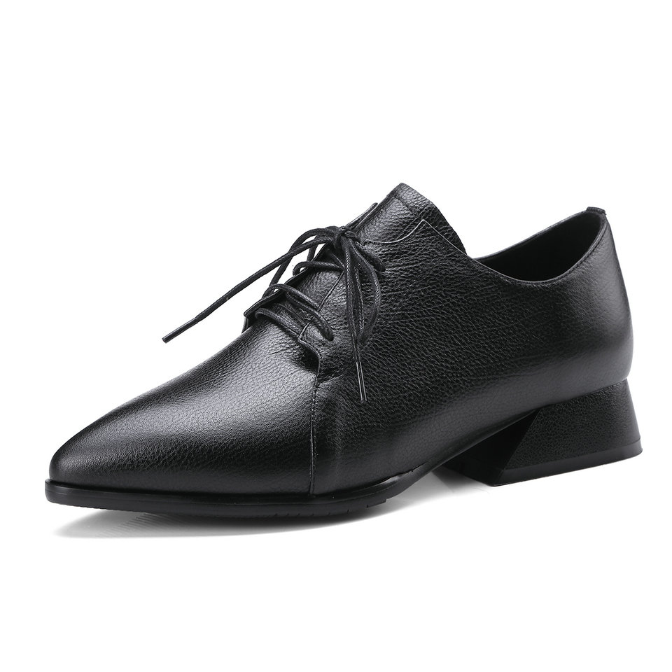 Apricot Zapatos Vaca Tacón Tamaño Bajo 11 Pu Del 3 Cuero Negro Eshtonshero Plataforma negro Plaza Señoras Mujer Dedo Pie De Boda Bombas Puntiagudo z4qwWxvY1E