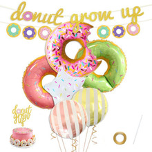 Donut Balloon Baby Shower 1st Birthday Party Decoration Grow Up Boy or Girl Decor Supplies