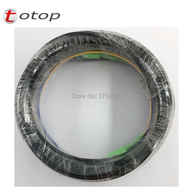 Livraison Gratuite 50 m En Plein Air Chute De Fiber Optique Câble Patch Cordon SC/APC de SC/APC Duplex SM g657A2 LSZH 4 core Baisse Câble Patch Cordon