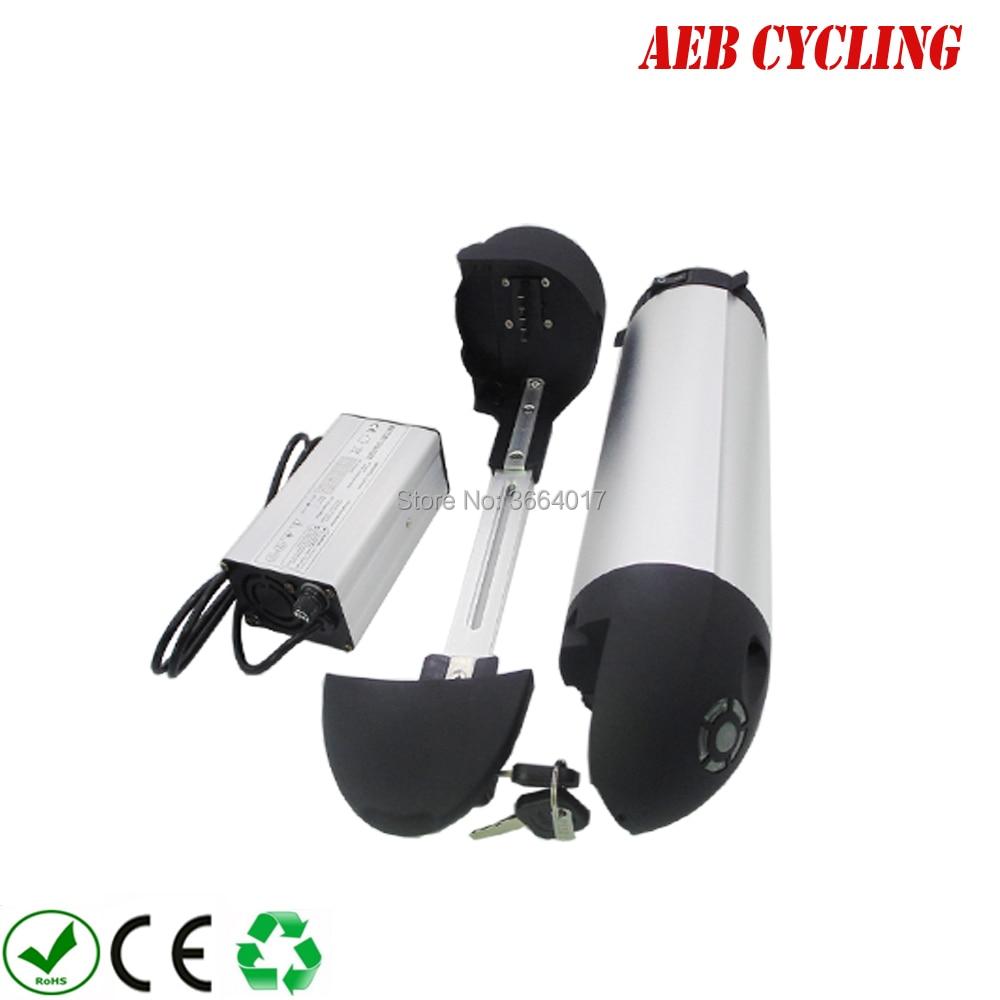 O envio gratuito de bateria de íon de Lítio para garrafa para baixo tubo de pneu gordura bicicleta elétrica 48 V bateria De Lítio-ion 12.8Ah ebike bateria com o carregador
