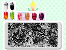 Lilies Design Image DIY Manicure Nail Art Stamp Template Image Plate Rctangular Stamping PLates Set Beauty Polish Tools