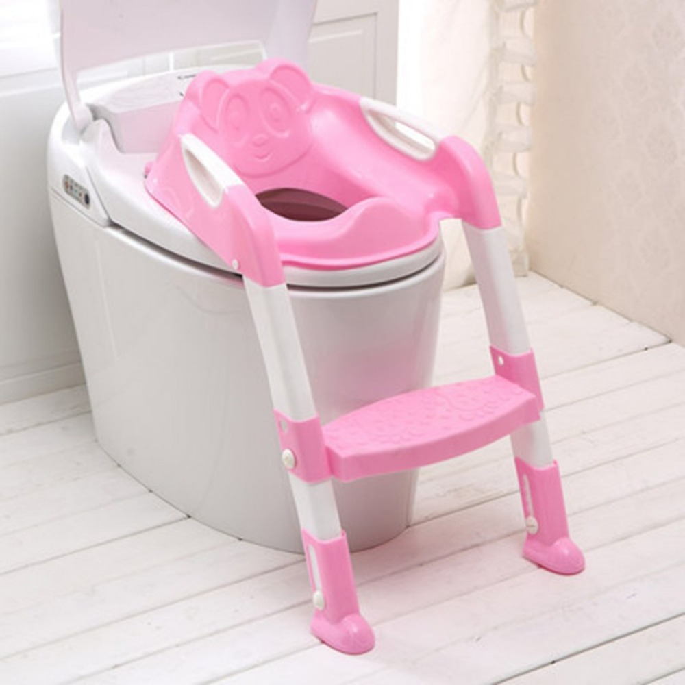 Foldable Children Potty Seat With Ladder Cover PP Toilet Adjustable Chair Pink 2018 Hot Selling magic cane