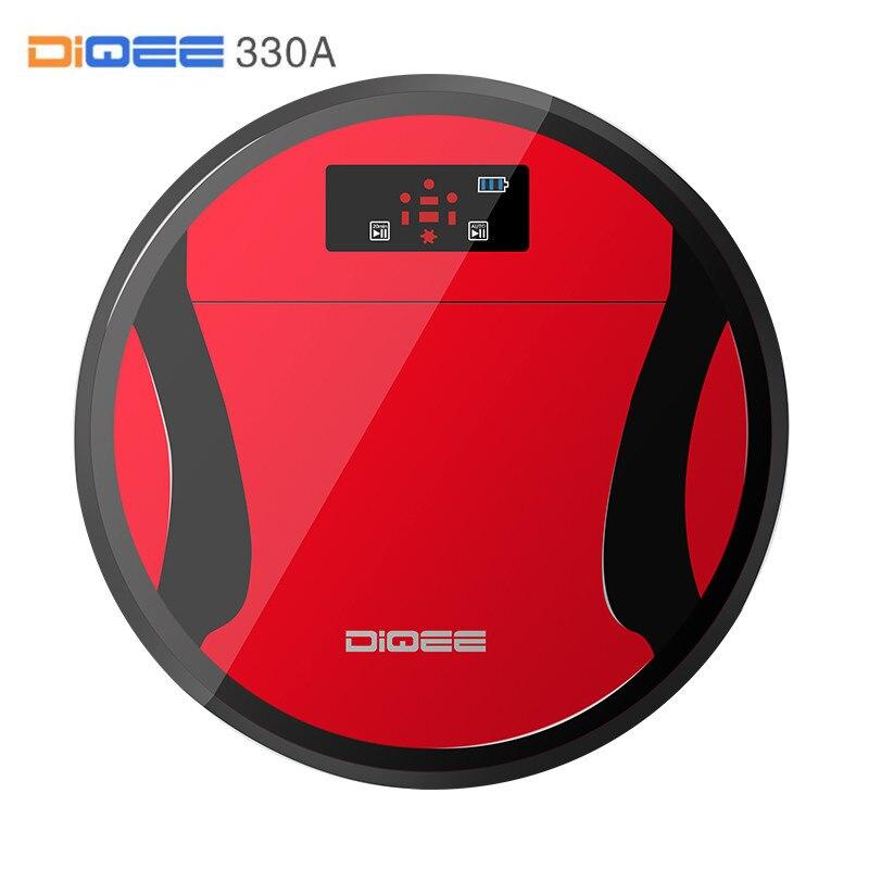 330A DIQEE Esterilizar Robot Vacuum Cleaner para Casa Varrer a Poeira sincronismo Automático de Carga caixa de Pó HEPA Filtro 500 ML