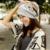 Impresión de algodón Del Otoño Del Resorte de La Manga Casquillo Gorros Mujeres Plicate Slouch Baggy Sombrero Tapas de Cabeza de Doble Propósito Bufanda Pañuelo de Moda