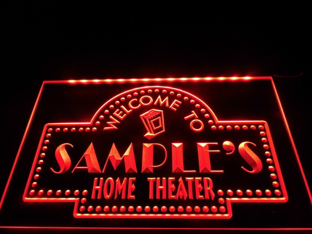 DZ009 Name Personalized Custom Home Theater Bar LED Neon