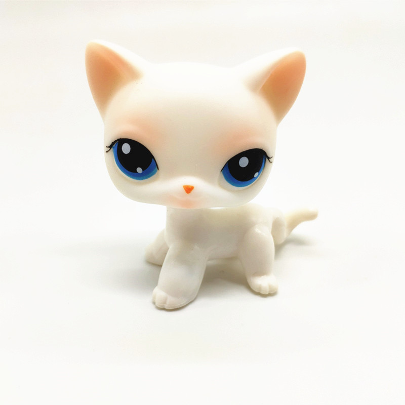 Original Rare Lps Pet Shop Toy Free Shipping White Shorthair Brown Great Dane Stand Action Collection 41 Style Children's Gift