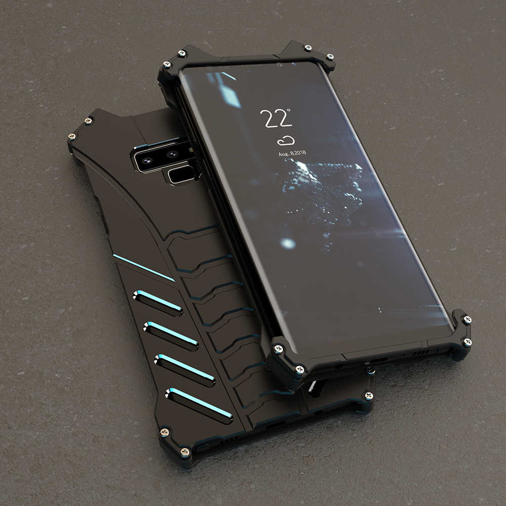 purchase cheap 95419 bcbd8 R-Just Metal Aluminum Batman Case For Samsung Galaxy Note 9 A9 Star Note 8  7 5 Anti-Knock Cover For C5 C7 C9 Pro Cooling Shell