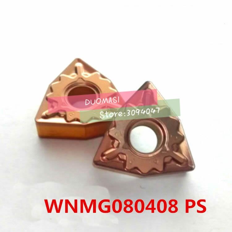 Купить с кэшбэком Good wear resistance WNMG080408-PS carbide CNC inserts,CNC lathe tool,apply to steel processing, insert MWLNR/WWLNR turning tool