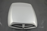 Car Styling Universal Silver Car Decorative Air Flow Intake Scoop Turbo Bonnet Vent Cover Hood Car
