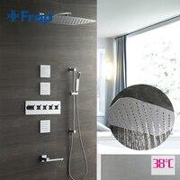 Frap смесители для душа осадков смеситель для душа термостат настенный смеситель для душа кран вертикальный душ в ванную набор ванная комнат