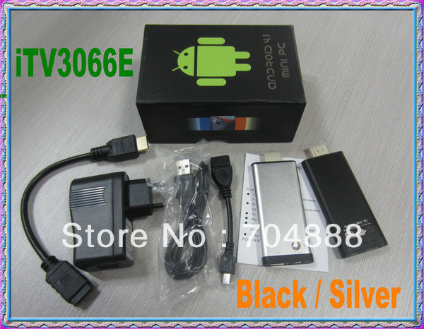 Free Shipping cheaptest Android Mini PC Rcokchip3066  Dual Core 1GB/8GB/ android 4.2 TV stick IP tv android TV Box