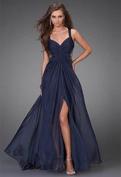 Navy Evening Dresses Promotion-Shop for Promotional Navy Evening ...