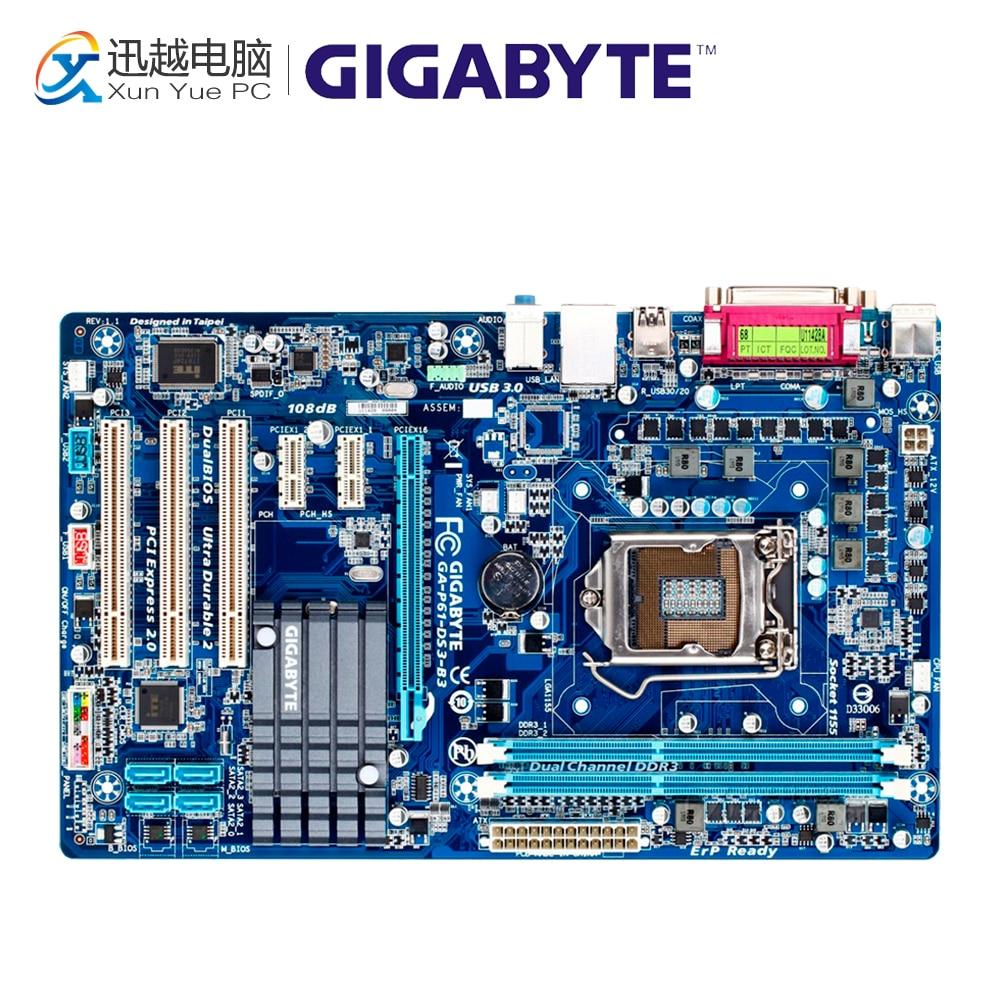 Gigabyte GA-P61-DS3-B3 Desktop Motherboard P61-DS3-B3 H61 LGA 1155 i3 i5 i7 DDR3 16G ATX