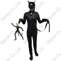 Kid S Miraculous Ladybug Adrien Agreste Cat Noir Cosplay Costume Boy PU Jumpsuit Boys Halloween Outfit