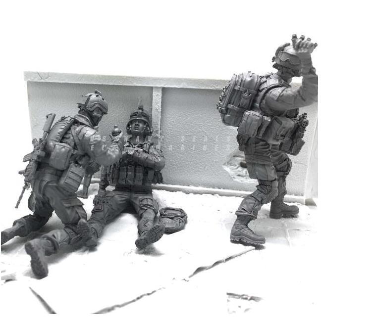Tobyfancy 1/35 Modern U.S Navy Elite Marine Combatientes de rescate - Juguetes de construcción - foto 3