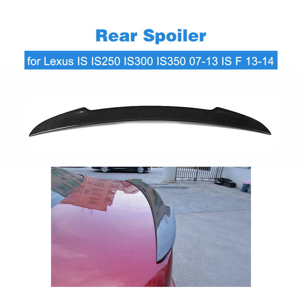 Углеродного волокна задний багажник загрузки утка спойлер лобового стекла крыло для Lexus IS IS250 IS300 IS350 07 13 F 13 14 стайлинга автомобилей